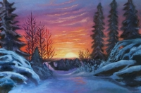 Sunset on the Border- limited edition print